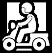 三輪車の電気スクーター